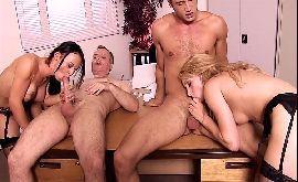 Filme porno orgia secretarias fazendo hora extra pra sentar na rola dos patrões