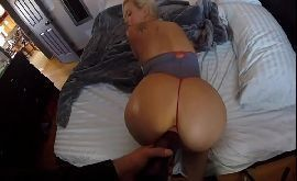 Hot sex loirinha dormiu e acordou com a rola entrando