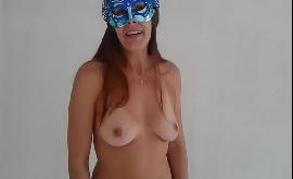Minha mulher pelada desejando boas festas