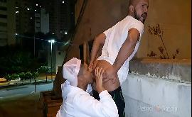Sexo gay na rua fodendo no centro de São Paulo