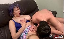 Coroa safada fazendo sexo com novinho