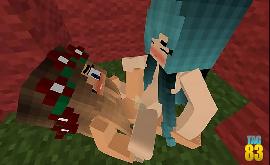 Minecraft transando enquanto os outros brigam la fora