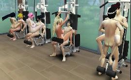 Hentai tenten e suas amigas fazendo orgia na academia