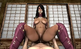 Mortal kombat hentai Milenna dando xoxota e sua bunda