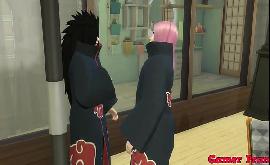 Akatsuki hentai Madara e Konan peituda fazendo sexo gostoso